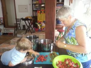Aardbeienjam  maken