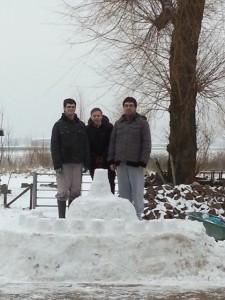 Sneeuw kasteel