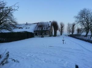 Winterwonderland aan de Oudelandsedijk